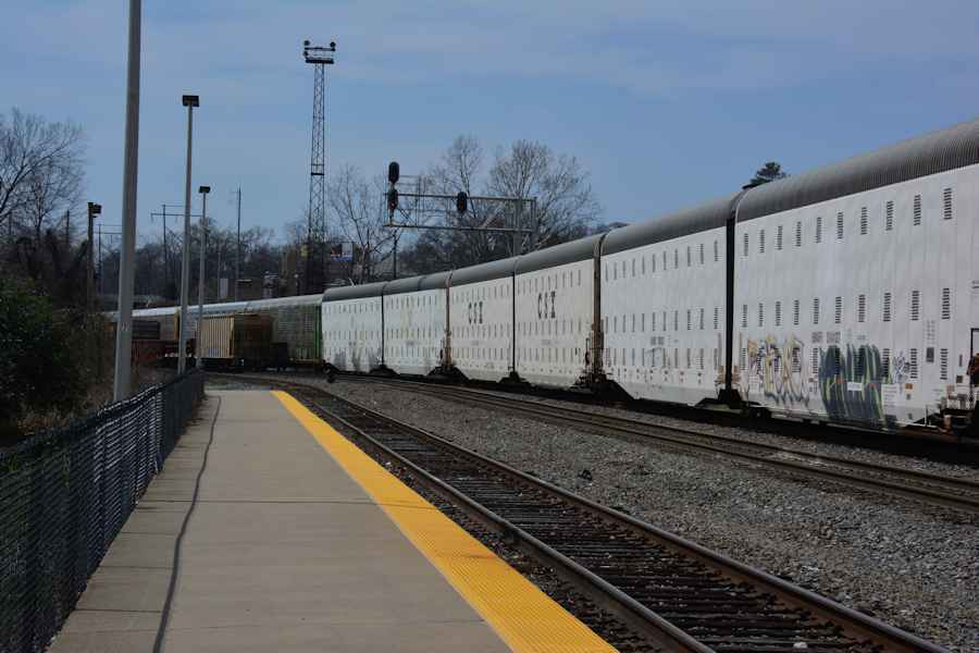 Little Rock trains March 30, 2014 incl USAX Army loco