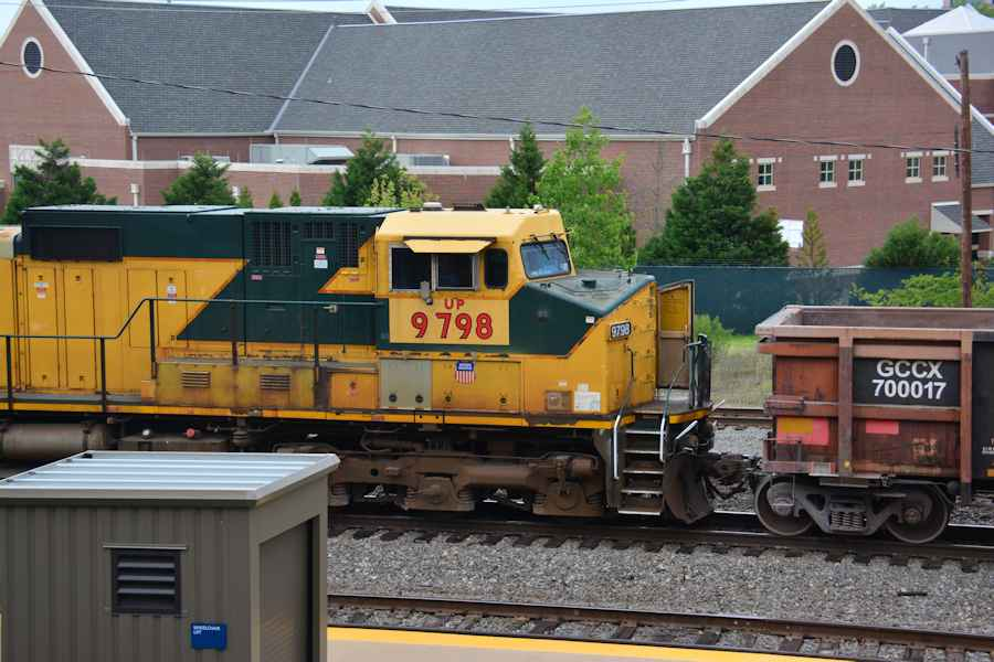 Little Rock trains on a partially rainy day April 21 2014